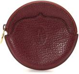 Cartier Pre-Owned Maroon Leather Coin Purse With Zip Closure