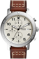 Fossil Men's Chronograph The Major Brown Leather Strap Watch 46mm CH3084