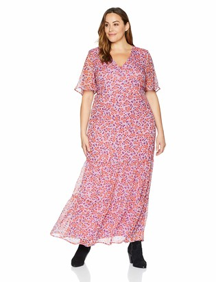 Junarose Women's Plus Size Alyda Short Sleeve Maxi Dress