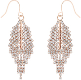 Accessorize Sparkle Leaf Earrings