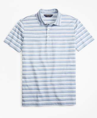 Brooks Brothers Slim Fit Cotton Jersey Stripe Polo Shirt