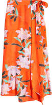 Diane von Furstenberg Printed Maxi Skirt in Cotton and Silk