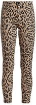 Joe's Jeans Charlie High-Rise Leopard Print Ankle Skinny Jeans