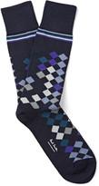 Paul Smith - Patterned Stretch Cotton-blend Socks