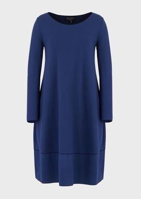 Emporio Armani Loose-Fit Dress In Milano Stitch Fabric