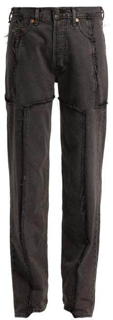 Vetements X Levis Reworked Straight Leg Jeans - Womens - Black
