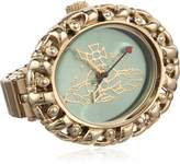 Vivienne Westwood Women's VV052GRGD Plimlico Gold Tone Stainless Steel Swiss Quartz Ring Watch