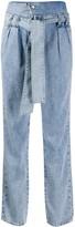 Liu Jo foldover top high-waisted jeans