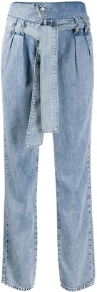 Liu Jo Foldover Top High-Waisted Jeans