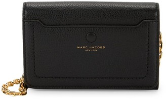 Marc Jacobs Leather Wallet On Chain