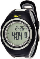 Everlast Pedometer Gray/Black Silicone Strap Sport Watch