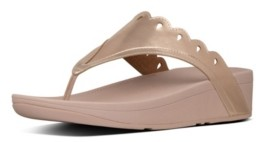 FitFlop Women's Esther Floret Toe-Thongs Wedge Sandal Women's Shoes