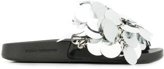Paco Rabanne sequin embellished slip-on sandals