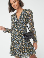 Very WovenTwist Front Mini Dress -Floral