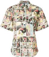 Prada comic book print shirt