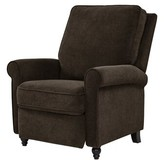 Andover Mills Leni Manual Recliner Fabric: Chocolate Brown Chenille