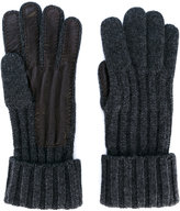 Brioni lamb skin detail gloves - men - Cashmere/Lamb Skin - S