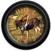 Reflective Art Intruder Wall Clock