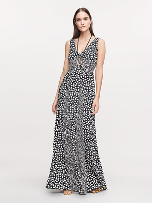 Diane von Furstenberg Harbor Silk Crepe de Chine Maxi Dress