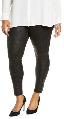 Wit & Wisdom Crackle Coated Ponte Leggings