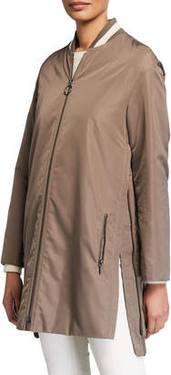 Akris Punto Zip-Front Techno Bomber Jacket