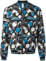 Dolce & Gabbana musical instrument print bomber jacket - men - Calf Leather/Nylon/Polyamide/Polyester - 46