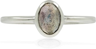 Lee Renee Labradorite Rose Cut Ring - Silver