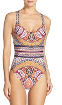 Nanette Lepore Women's Woodstock Goddess One-Piece Swimsuit