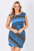 NEW Rebecca Ruby Womens Short Dresses Sally Spot Dress SpotPrint