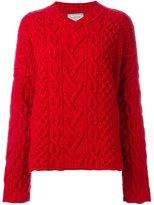 Lanvin cable knit v-neck jumper