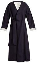 Acne Studios Oceane shadow-striped robe coat
