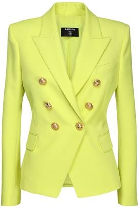 Balmain Wool Grain De Poudre Blazer Jacket