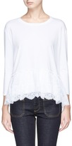 Stella McCartney Lace peplum hem long sleeve T-shirt