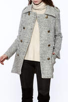 Asia Fashion Grey Structured Peacoat