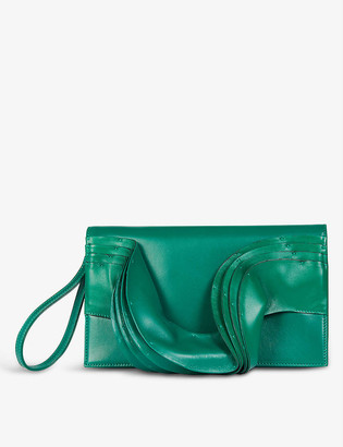 Valentino Atelier Wave leather clutch bag