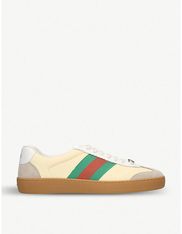 Gucci Logo-print leather trainers