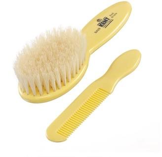 Kent Baby Supersoft White Bristle Brush & Comb Set - Ba28
