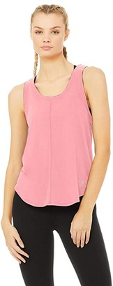 Alo New Moon Tank (Macaron Pink) Women's Clothing