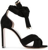 Nicholas Kirkwood Black Ziggy Heeled Sandals