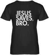 Indica Plateau Womens Jesus Saves Bro T-Shirt