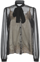 Dolce & Gabbana Sheer Bow Blouse