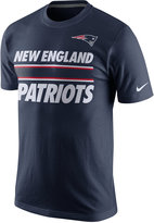 Nike Men's New England Patriots Team Stripe T-Shirt