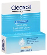 Clearasil Daily Clear Tinted Acne Treatment Cream 1oz (2 Pack)