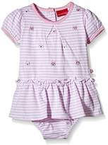 Salt&Pepper SALT AND PEPPER Baby Girls Crew Neck Short Sleeve Footies - Pink - 0-3 Months