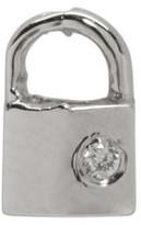 Lauren Klassen White Gold Diamond Tiny Padlock Earring