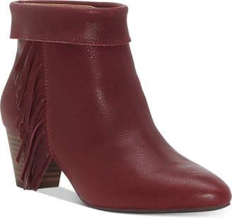 Lucky Brand Women Zakina Fringe Booties Women Shoes