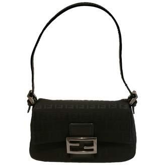 Fendi Baguette Black Cloth Clutch bags