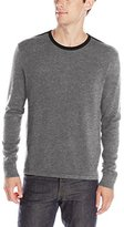 Kenneth Cole New York Kenneth Cole Men's Solid Crew Neck Sweater with Contrast Collar