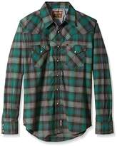Wrangler Men's Retro Two Pocket Snap Front Long Sleeve Shirt