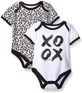 Amy Coe Baby Girls' XO Ox Printed 2 Pack Bodysuits